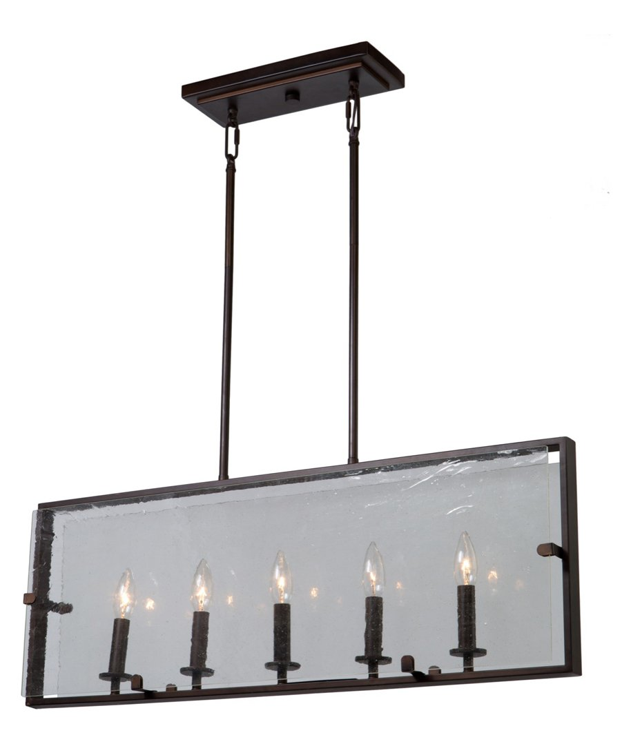 Harbor Point 5 Light Oil Rubbed Bronze Island Light