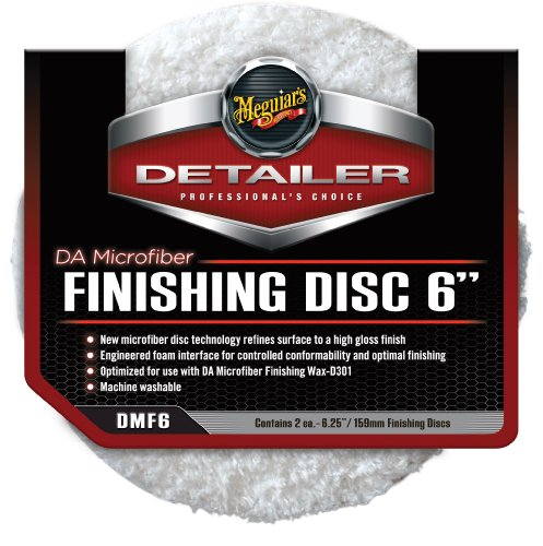 "Meguiar's DMF6 6"" DA Microfiber Finishing Disc, (Pack of 2)"