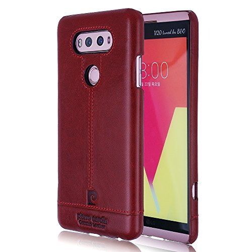 pierre-cardin-genuine-leather-case-protective-slim-fit-snap-on-hard-back-cover-for-lg-v20-red