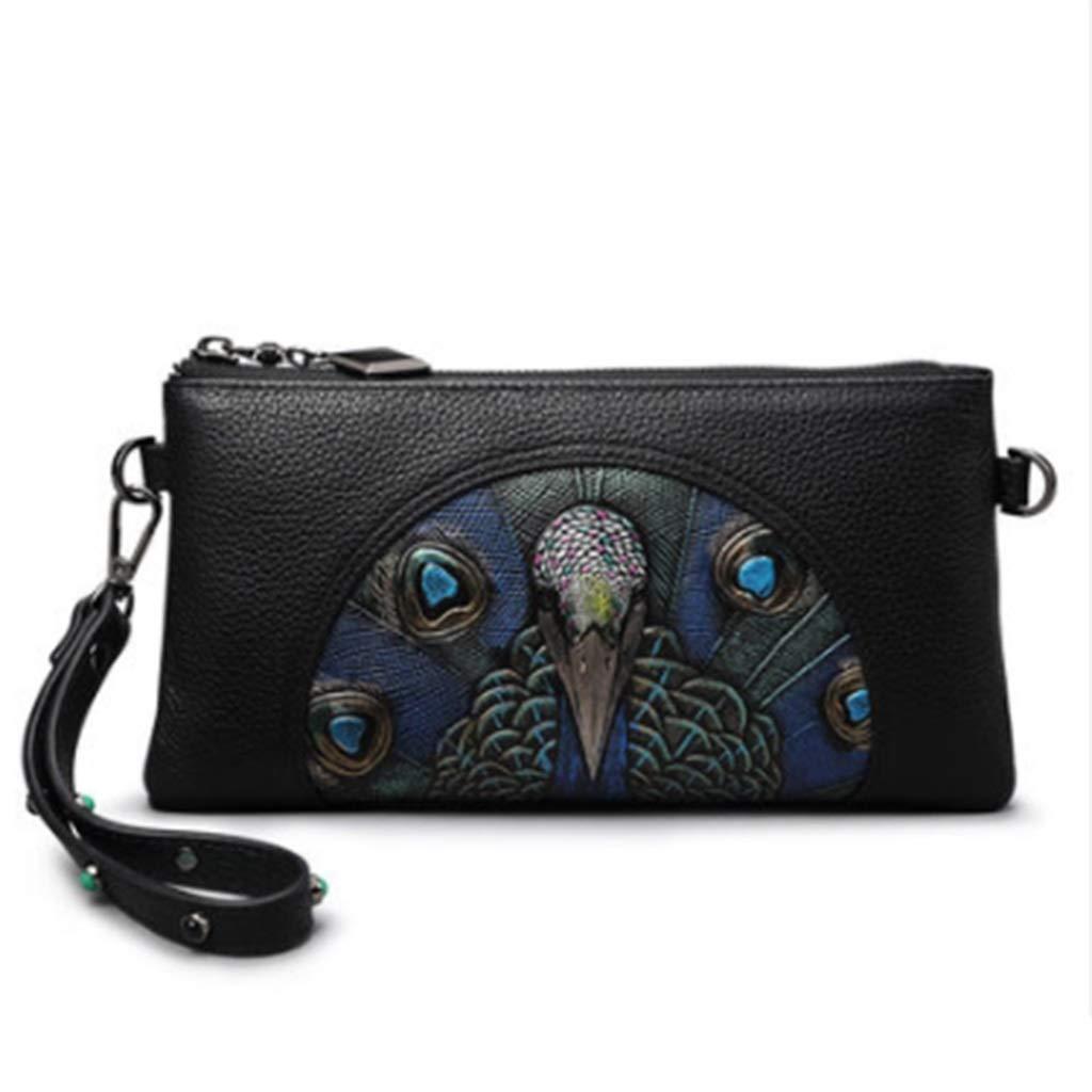 A Women's Wallet, 2019 New Leather Clutch Bag Personalized Fashion Mini Bag Ladies Hand Bag (color   A, Size   23.5cmX13cm2CM)