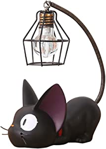 Resin Cat Design lamp Creative Night Light Table Bedside Lamps for Reading (Iron Wire Lampshade)