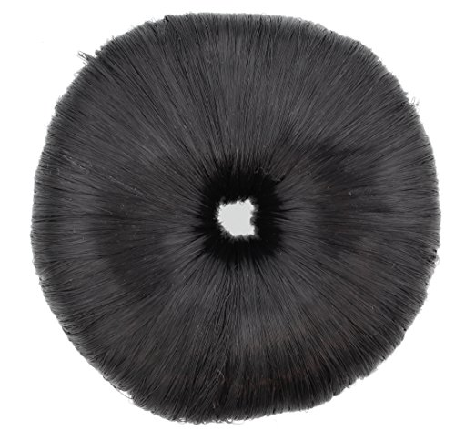 Making Waves Faux Hair Donut Bun Shaper Extension (Black) by Making Waves