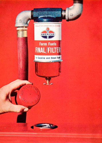 1966 Ad AMOCO Logo American Standard Oil Farm Fuel Engine Filter Agriculture - Original Print Ad from PeriodPaper LLC-Collectible Original Print Archive