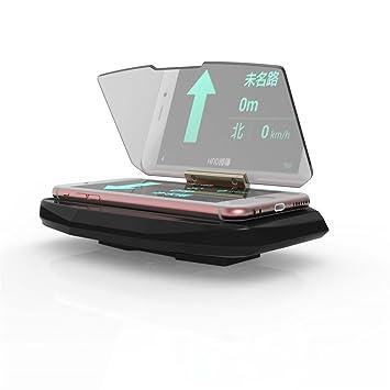 MEITEAI Soporte de Pantalla para teléfono Móvil y GPS DE 6,5 Pulgadas, Soporte Universal para proyector de Imagen para Smartphones Hud, Navegación de Coche: ...