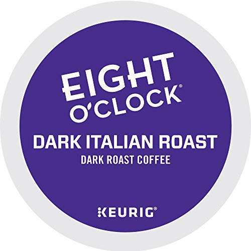 Eight O'Clock Coffee Dark Italian Roast Keurig Single-Serve K-Cup Pods, Dark Roast Coffee, 72 Count (6 Boxes of 12 Pods)