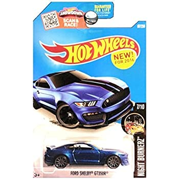 Hot Wheels 2016 Night Burnerz Ford Shelby GT350R 87/250, Blue