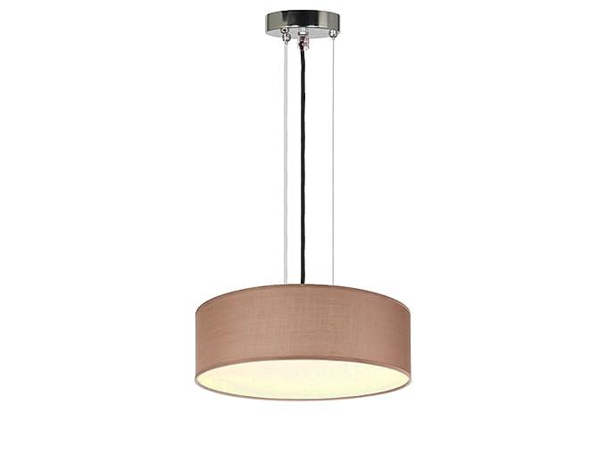 Lámpara de techo moderna, plástico marrón/protectora ...