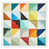 Rivet Abstract 3D Folded Paper Geo Shapes I, White Frame, 31'' x 31''