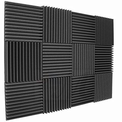 12 Pack Acoustic Panels Studio Foam Wedges 2