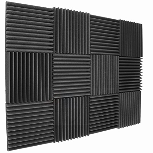12 Pack Acoustic Panels Studio Foam Wedges 2' X 12' X 12'