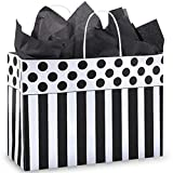 Domino Alley Paper Shopping Bags - Vogue Size - 16 x 6 x 12in. - Pack of 100