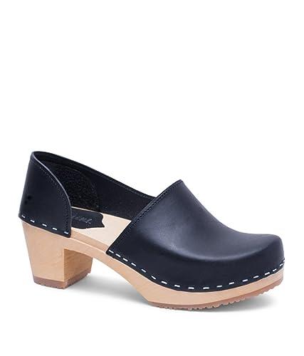 8a3a5dacfaf8e Sandgrens Swedish High Heel Wooden Clogs for Women | Brett