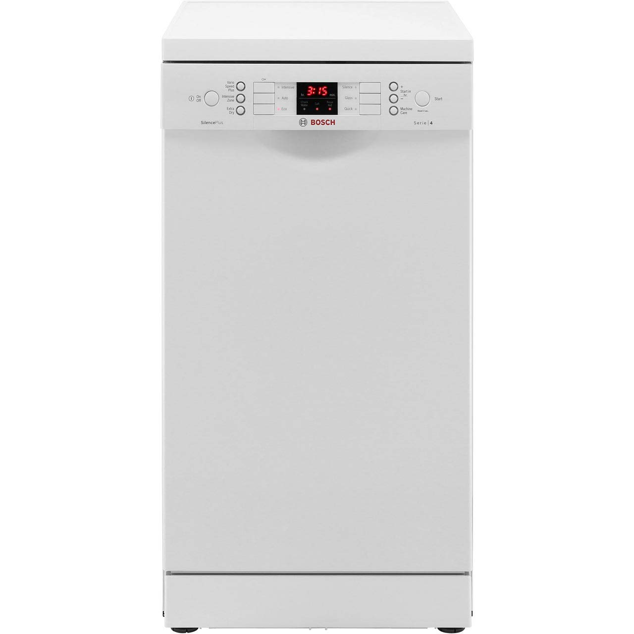 Bosch Serie 4 SPS46IW00G Silence Plus 45cm Freestanding Dishwasher with 9 Place Settings, A+ Energy, 6 Programmes and Child Safety [Energy Class A+]