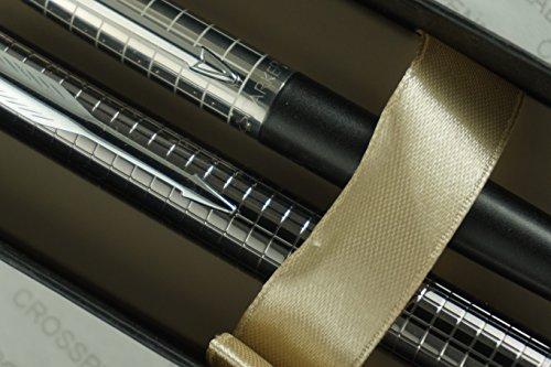 Parker Jotter Diamond Cut Cap Stainless Steel Tuxedo Matte Black Barrel Ballpoint Pen and Parker IM Premium Deep Gun Metal Enhanced with a Tactile and Visual Chiseled Crosshatch Ballpoint Pens Set. (Parker Pens Pencils)