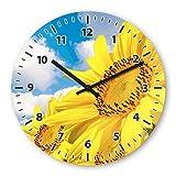 Sunflower Wooden Wall Clock Silent Non-ticking Wall Clocks Decorative for Living Room Bedrooms Nursery Clock Children Watch