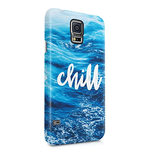 Chill Ocean Sea Waves Beach Plastic Phone Snap On Back Case Cover Shell For Samsung Galaxy S5