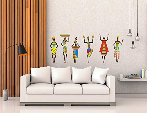 Studio Curate Large Size Wall Sticker for Living Room, Bedroom, Hall, Kitchen, Kids Room | African...