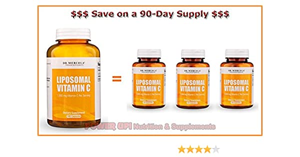Amazon.com: Dr. Mercola ***Liposomal Vitamin C 180 Capsules*** 90-DAY SUPPLY!: Health & Personal Care