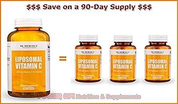 Dr. Mercola ***Liposomal Vitamin C 180 Capsules*** 90-
