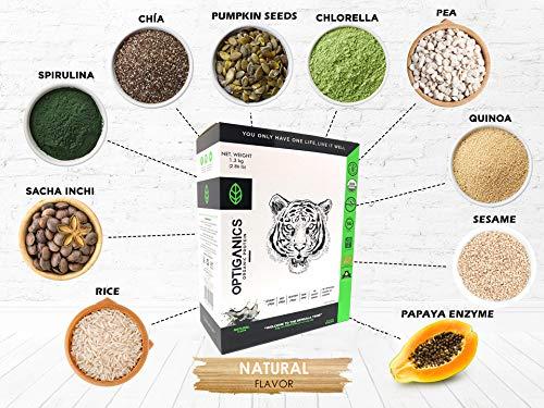 Amazon.com: OPTIGANICS, Vegan Protein Powder 6.61 (3 kg) Pounds ...