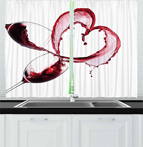 wine theme kitchen curtains - 7