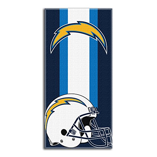 (The Northwest Company Officially Licensed NFL Los Angeles Chargers Zone Read Beach Towel, 30