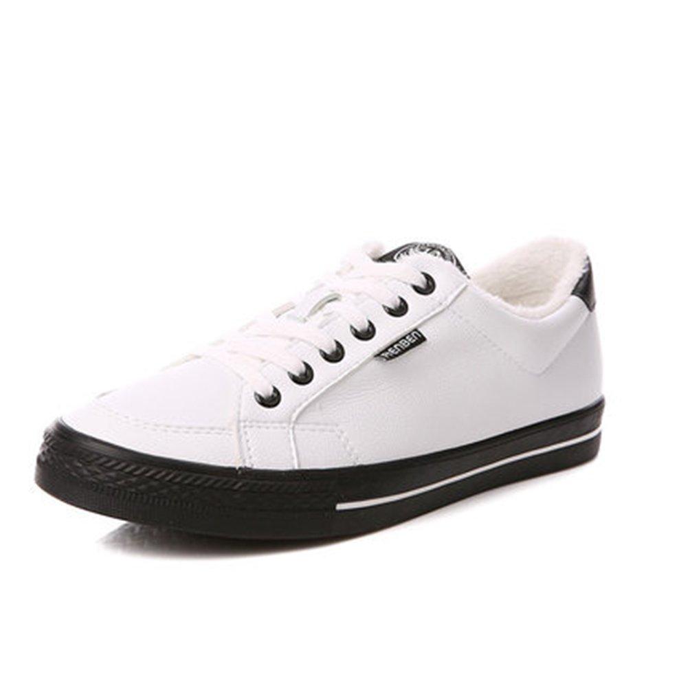 YIXINY Deporte Zapato 117237611 Simple Y Con Estilo Invierno Casuales Planas De Los Zapatos Bajos De Los Hombres ( Color : Blanco , Tamaño : EU41/UK7.5-8/CN42 ) EU41/UK7.5-8/CN42|Blanco