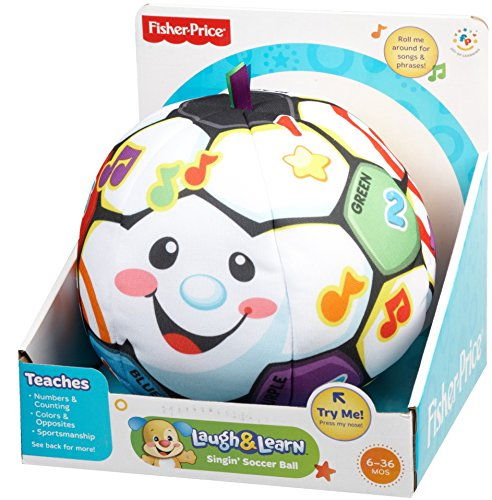 51bleO4VUML - Fisher-Price Laugh & Learn Singin Soccer Ball