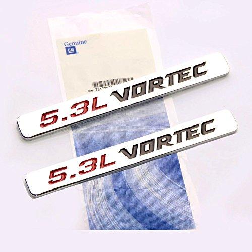 Yoaoo® 2x OEM 5.3l Vortec Hood Emblems Engine Badge Silverado Z71 GMC Sierra 2 Chrome (Engine Vortec compare prices)