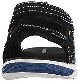 Nautica Boys' Helm Boat Shoe, Black/Blue, 3 M US
