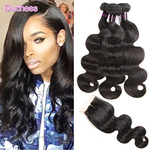 Peruvian Body Wave With Closure 14 16 18 With 12 Clousre 3 Bundles Peruvian Human Hair Weave With Closure Swiss Lace Middle Part Peruvian Hair Bundles With Closure