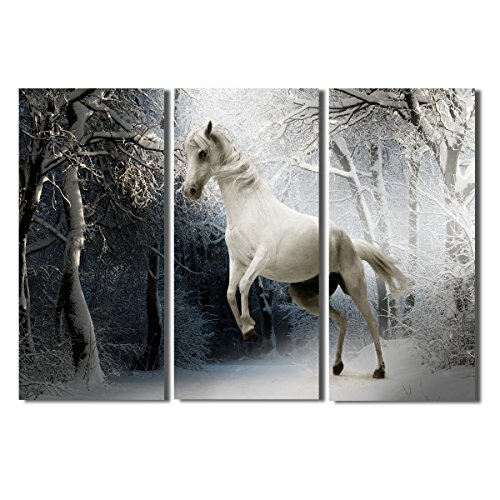 Animals Canvas (Animal Canvas Wall Art Wall Decor Artwork Horse Paintings Home Decor for Living Room)