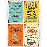 Throwback Traits Coffee Sign Shop Posters Prints (Offset Paper). Multicolor Wall Art Coffee Decor for Any Kitchen, Cafe, Diner or Restaurant! Add a Vintage Style to Your Home. Paper Posters, NOT TIN