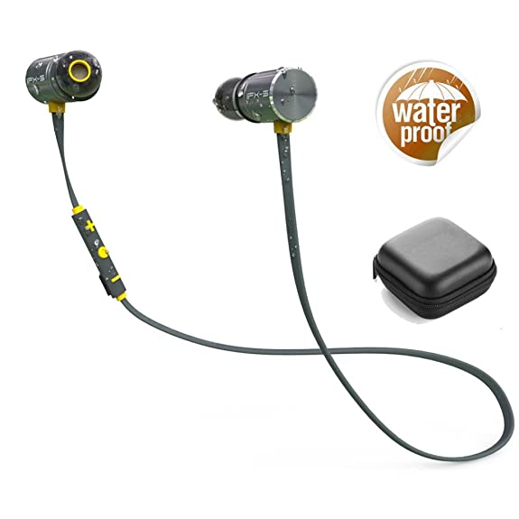 Plextone Bx343 Waterproof Wireless Bluetooth Sports Earphones Hi-Fi Stereo Universal Cell Phone Headsets Earphone