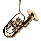 3 Gold Tuba Ornament