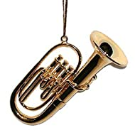 3 Gold Tuba Ornament