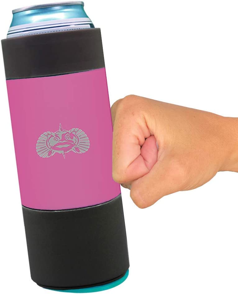 Toadfish Slim Non-Tipping Can Cooler (Pink)