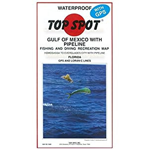 Amazoncom  Top Spot Fishing Map from West Coast Florida Offshore