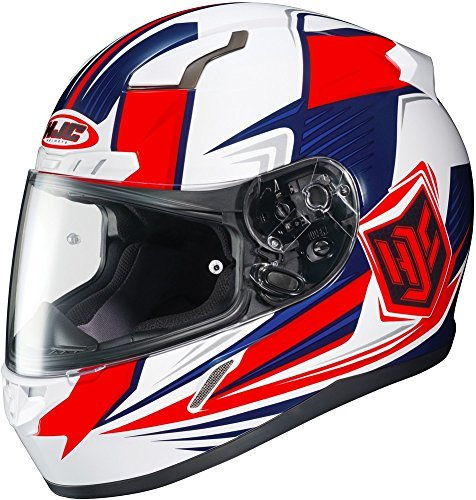 HJC CL-17 Striker Full-Face Motorcycle Helmet (Red/White/Blue, Medium) ()