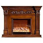 Elettrico Camino Heater Intagli decorativi Cabinet Mantle Riscaldamento cucina elettrica, Freestanding portatile Log… 51blfmobBfL. SS150