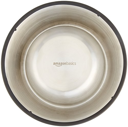 Large Product Image of AmazonBasics Stainless Steel Dog Bowl - Set of 2