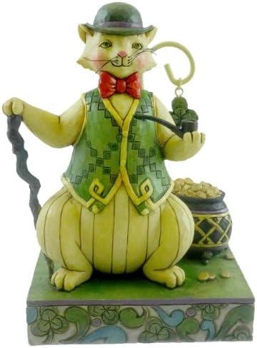 Enesco Jim Shore Heartwood Creek from Irish Cat Figurine 5.75 in