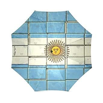 Custom Argentina Pattern by Nico Foldable Rain Umbrella Resistant Windproof Sun Travel Anti-UV Umbrella