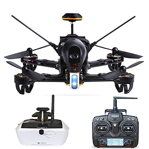 Walkera F210 Professional Deluxe Racer Quadcopter Drone w/ 5.8G Goggle4 FPV Glasses /Devo 7 Transmitter /700TVL Night Vision Camera / OSD / Ready to Fly Set RTF Mode 2 (Type 2)