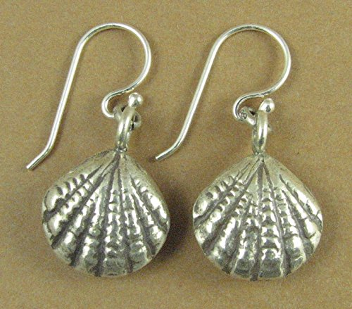 52ee4f940 Image Unavailable. Image not available for. Colour: Sea shell shaped large silver  earrings. Fine & sterling silver. Handmade.