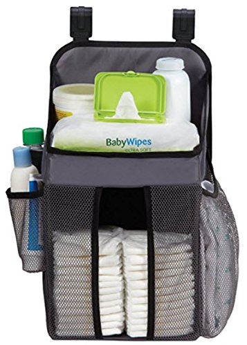 Dexbaby Playard Diaper Caddy and Nursery Organizer for Baby's Essentials - Gray