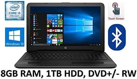 HP Flagship Premium 15.6 inch HD Touchscreen Black Laptop PC, Intel Core i3-7100U 2.40 GHz Dual-Core, 8GB DDR4, 1TB HDD, DVD, Bluetooth, WIFI, Webcam, Windows 10