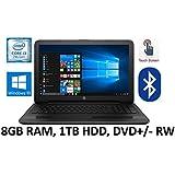 HP Flagship 15.6 inch HD Touchscreen Black Laptop PC, Intel Core i3-7100U 2.40 GHz Dual-Core, 8GB DDR4, 1TB HDD, DVD, Bluetooth, WIFI, Webcam, Windows 10