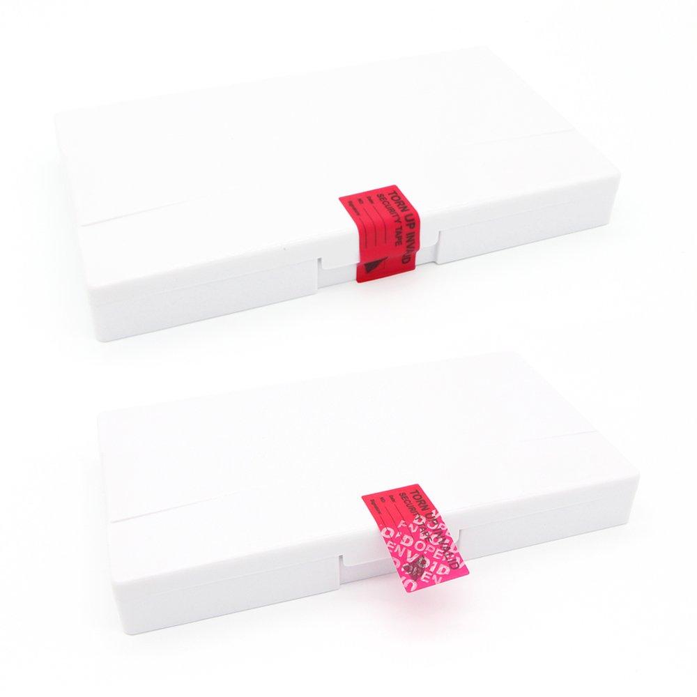 100 adesivi di sicurezza a prova di manomissione etichette di sicurezza separate 1x2 Marked on tape 100pcs Blue Blu