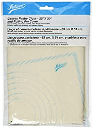 Ateco Canvas Pastry Cloth and Rolling Pin Cover, 25\